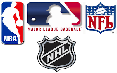 Nba mlb nfl and nhl logos